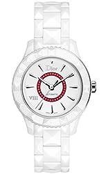 Christian Dior VIII White Dial Ceramic Ladies Watch CD1245E8C001