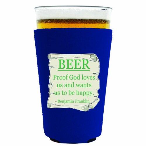 Coolie Junction Beer Proof Funny Pint Glass Coolie Royal Blue front-488559