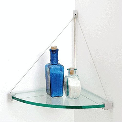 "C.R. Laurence 1010Cc Crl 10"" X 10"" Corner Cable Glass Shelf Kit front-605089"