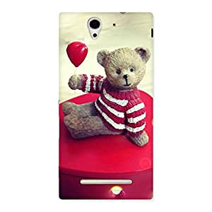 Impressive Red Heart Teddy Back Case Cover for Sony Xperia C3