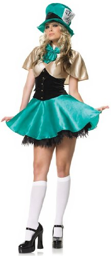 Sexy Mad Hatter Tea Party Hostess Costume Tea Party Dress Mad Hatter Costume 83077