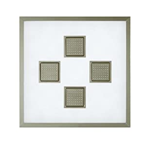 Kohler K-8034-G Watertile Ambient Rain with 54-Nozzle Square Sprayheads, Brushed Chrome
