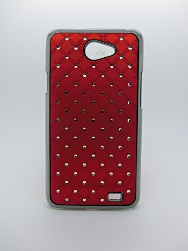 Maclogy 2014 Latest Fashion Design Luxury Dazzling Rhinestones Shiny Crystal Diamond Plating Protective Shell Trapped Difficult Cases Samsung Galaxy I9103 And Fashion Chain Crystal Ornaments Color Uv Radiation Gifts (Red)