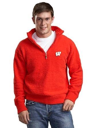 NCAA Wisconsin Badgers Kashwere U Half Zip Pullover by Kashwere U