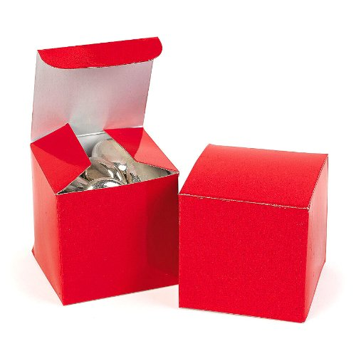 12 mini red gift boxes for small gifts party favors prizes 2x2x2