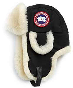 Canada Goose Men's Shearling Pilot Hat - Arctic Tech,Black,Small-Medium