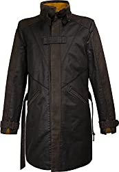 Watch Dogs Vigilante 2.0 Trench Coat Men Brown Long Aiden Pearce Jacket / Gaming Clothes by Musterbrand from Musterbrand