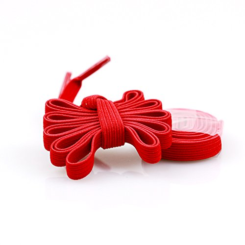 iSUN No Tie Shoelaces for Kids and Adults Shoes - Red Flat Elastic Shoelaces for Mens and Womens Shoes - One Size Fits All Running Shoes Sneakers Casual Shoes(See Picture) (Lock Laces Red compare prices)