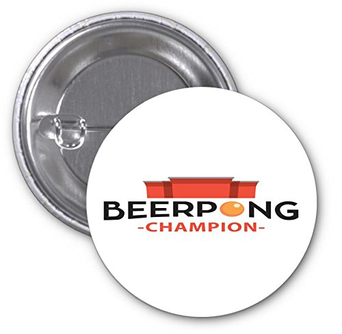 Beer Pong Beerpong Champion Champ Red Cup 2 PACK of 3 Inch Buttons Flare by Moonlight Printing (Beer Pong Champions compare prices)