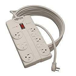Tripp Lite TLP825 Surge Protector 120V 5-15R 8 Outlet 25ft Cord 1440 Joule