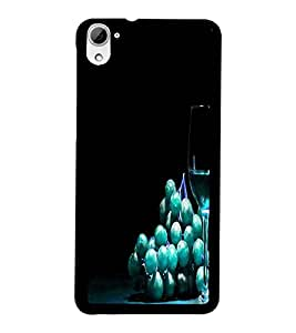 PrintDhaba Blue Berries D-3808 Back Case Cover for HTC DESIRE 826 (Multi-Coloured)