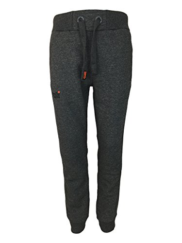 Superdry -  Pantaloni sportivi  - Uomo Low Light Black Grit Large