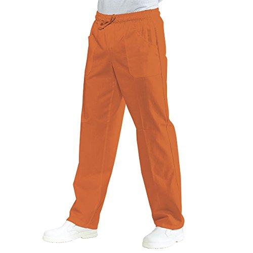 044711 Pantalone con elastico Arancio per Abbigliamento per la cucina per Abbigliamento per settori sanitario, benessere ed estetico per Divise ufficiali Federazione Italiana Cuochi FIC Donna Uomo Pantaloni