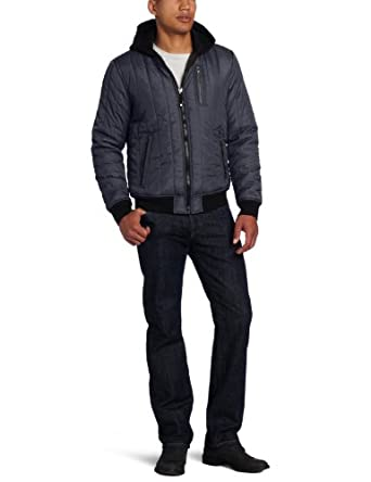 Calvin Klein Jeans Men's Flight Jacket, Academy Blue, Small