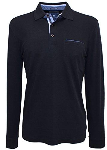Pierre Cardin -  Polo  - camicia Polo - Polo  - Maniche lunghe - Uomo nero XXXXL