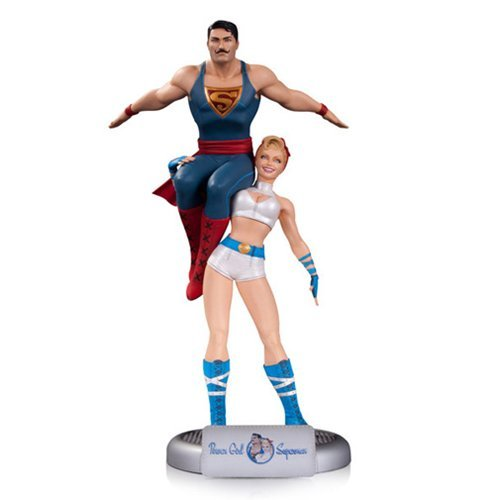 DC Comics Bombshells Power Girl and Superman Statue