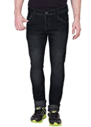 Aeroglide Black Washed Low rise Slim fit Jeans (28)