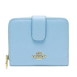 Coach Leather Medium Zip Around Wallet 52692 Pale Blue