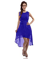 Clickedia Girl's & Women's faux Georgette Blue Kurti