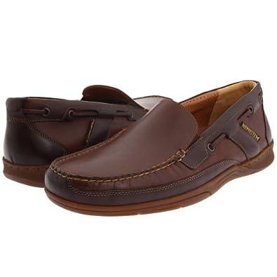Men's Mephisto FENTON WP Slip On Boat Shoes BROWN 7 M