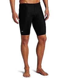 Speedo Men's Aquablade Jammer Swimsuit, Black, 30
