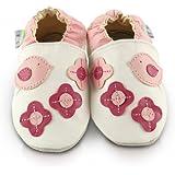 Snuggle Feet - Chaussons Bébé en Cuir Doux - Jolis petits Oiseaux