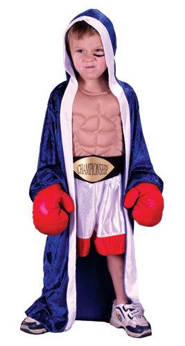 Lil' Champ Boxer Toddler Boys Boxing Robe Fancy Dress Halloween Costume S