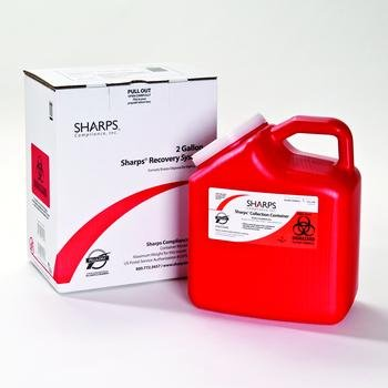 Sharps Recovery System Sharps Dspl Mail Sys 2Gln (1 CASE 12 EACH)
