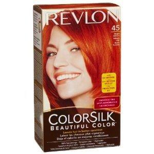 revlon coloration permanente colorsilk beautiful color couleur radieuse longue tenue couleur 45 auburn clair - Coloration Revlon