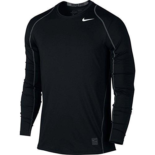 Men's Nike Pro Cool Top Black/Dark Grey/White Size Large