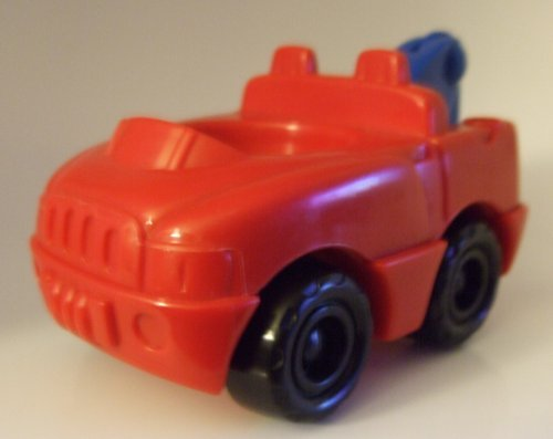 Little People Red Tow Truck 2002 Mattel Replacement Piece - Fisher Price Doll Toy Playset Figure Zoo Circus Ark Pet School - 1