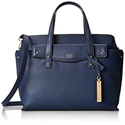 Vince Camuto Ilya Leather Satchel Shoulder Bag, Dress Blue, One Size