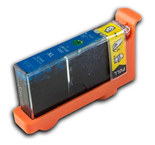 1 Lexmark L-100/L-108 XL Cyan/Blau (passt auch für L105/LM105) kompatible Tintenpatrone für Lexmark Pinnacle PRO 901 Drucker von 'The Ink Squid' - 1 x L-100/L-108 XL Cyan/Blau (19ml)