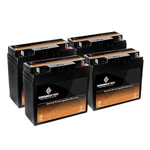 12V 19.5AH SLA Battery replaces np18-12 51814 6fm17 6-dzm-20 6-fm-18 - 4PK