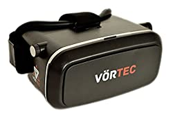 Vörtec VR1 Virtual Reality Headset - Fully Adjustable VR Glasses - VR Headset For VR Video Gaming, Movies, Pictures - Compatible With All 3.5-6 Android Phones, iPhones, Samsung Galaxy. Inspired by Google Cardboard, Oculus Rift