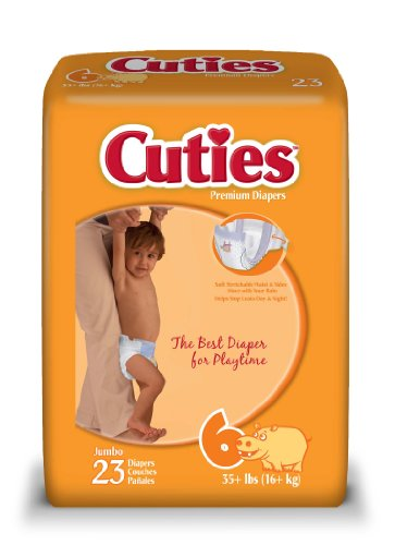 Cuties Jumbo Pack Diaper, Size 6, 92 Count - 1