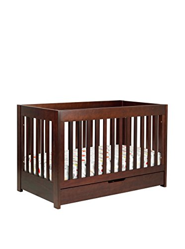 Babyletto Kid's Mercer 3-in-1 Convertible Crib with Toddler Bed Conversion Kit, Espresso
