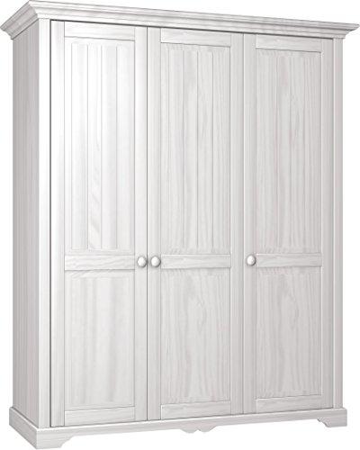 Firstloft-102-0300-Schrank-Cinderella-Premium-3-trig-171-x-205-x-65-cm-Kiefer-teilmassiv-wei