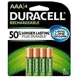 Duracell Batteries, NIMH 1.2V, 850 mAh, Long Life Ion Core, AAA 4 batteries