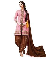 Om Creation Pink Embroidered cotton Salwar Suit HS29