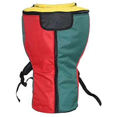 X8 Drums & Percussion Rasta Heavy Padded Djembe Backpack Bag, XL