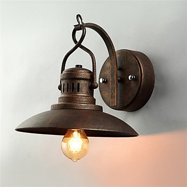 CNMKLM American Country Wrought Iron loft Wall Sconces,vintage 1 Heads Living/Dining/ Cafe Bars Bar Table Fixture , 220v