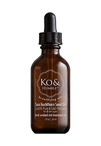 Sea Buckthorn Seed Oil, Organic, from Ko & Humble, 100% Pure & Cold-Pressed, Responsibly Sourced, Certified Cruelty Free, Amber Glass Bottle with Dropper, 1 Oz, 30 ml