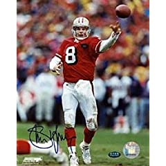 Signed Steve Young Photo - Autographed NFL Photos by Sports Memorabilia