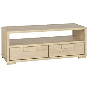 The Best  Oak Finish 2 Drawer TV Unit Entertainment Unit Modern Design Cambourne