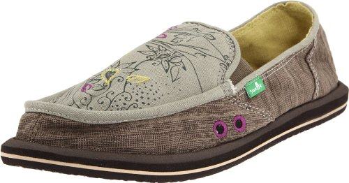 Sanuk Women's Scribble Sidewalk Surfer,Grey,8 M US