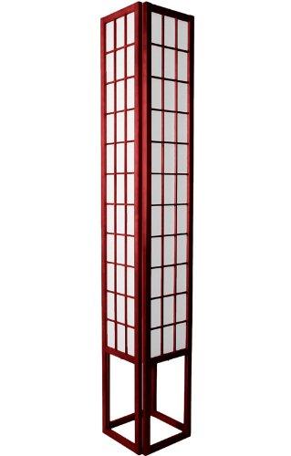 Multi Light Extra Tall Floor Lamp - 6ft. Japanese Design Wood & Paper Shoji Lantern - Rosewood