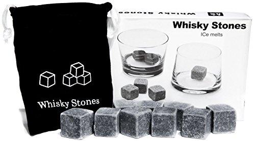 Lot De 9 Pierres À Whisky En Granit Avec Pochette De Rangement En Mousseline [version:x8.1] by DELIAWINTERFEL