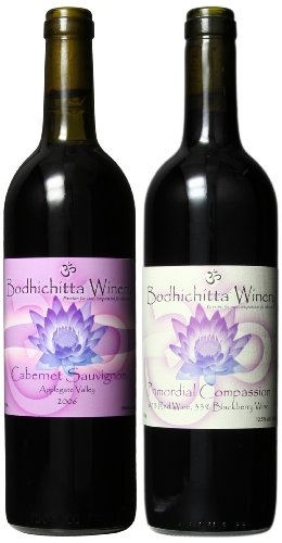 Bodhichitta Winery Oregon Red Wine Mixed Pack - Cabernet Sauvignon And Red Wine Blend (Cabernet / Blackberry Wine) 2 X 750Ml