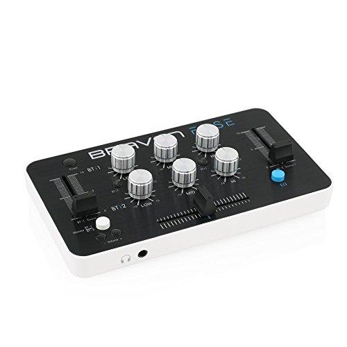 Braven-Fuse-Slim-Bluetooth-Mischpult-Controller-Crossfader-3-Kanal-EQ-2-Channelfader-Monitor-Out-Master-35mm-Klinke-Integrierter-Akku